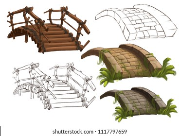 Wood bridge design