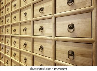 Wood Card File Cabinet Drawers,Elegant interiors