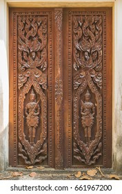 wood carved in Thailand.