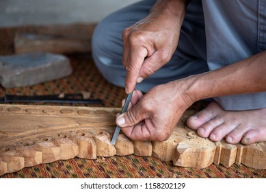 The wood carving .
