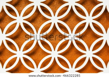 Wood Carving Patterns Coppercolored Wall Background Stock Photo