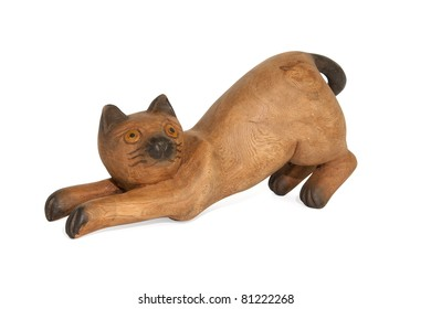 Wood Cat - Wood figure of the cat