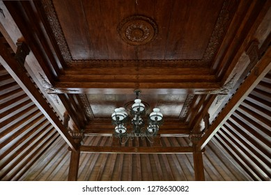 Wood Ceiling in Javanese Traditional House Joglo