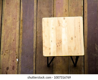 Wood chair background. Hardwood, wood grain, organic material grunge style. Vintage wooden surface top view. Wooden table top view.