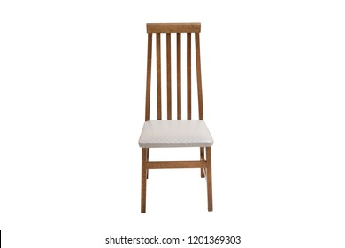 Wood chair. Object isolated of white background