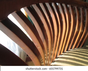 Wood Chair Pattern. Brown Wood Line