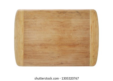 A wood chopping board isolated on white with clipping path