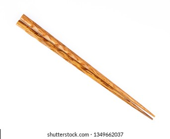 wood chopsticks isolated on a white background