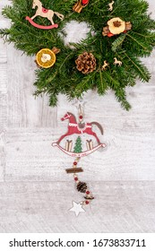 Wood Christmas decoration for horseriding centres
