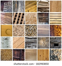 Wood collage