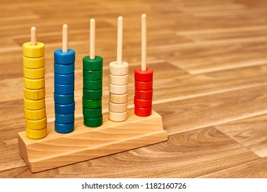 Wood color abacus