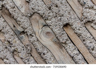 Wood and concrete wall background