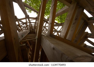 Wood construction, view up