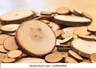 Wood Cross Section Tree Rings Cut Slice Brown Stump