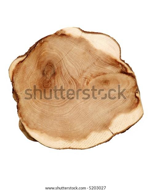 Wood cut isolated