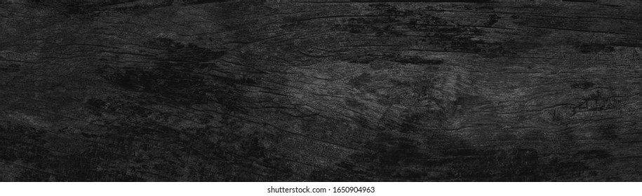 Wood Dark background, Wooden pattern black wall, abstract plank board for design