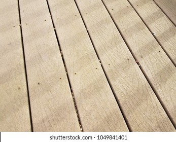 wood deck with shadows