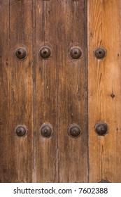 wood door detail in vertical view