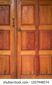 wood door entrance of residential house