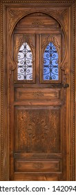 Wood door for house decoration