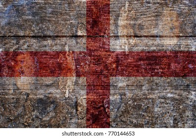 Wood England flag