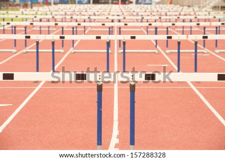 Wood fence for Hurdles.