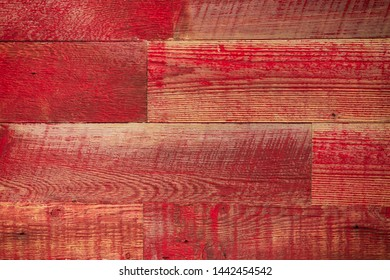 Wood floor background, red planks