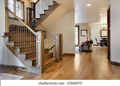 Wood Floored Home Entrance and Hall
