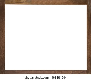 wood frame abstract background, white blank space