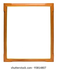 Wood frame with gold edges