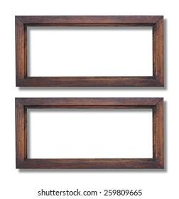 Wood frame isolated on white