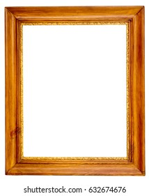 wood frame isolated on a white background