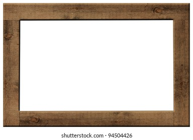 Exceptionnel Wood Frame Isolated On White