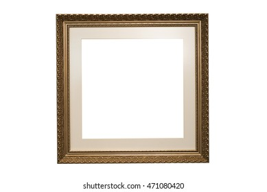 Wood Frame Louis dark golden isolated on white background