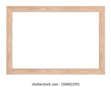 Wood frame or photo frame isolated on the white background