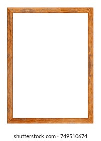 Wood frame or photo frame isolated on white background. Object with clipping path