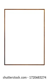 wood frame picture isolated on white background