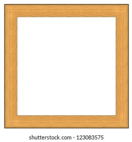 Wood frame for pictures and portraits