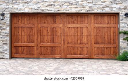 Wood Garage Door Hd Stock Images Shutterstock