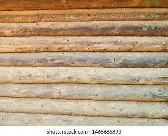 Wood Glued timber plank background. Wooden construction glued laminated timber in the wall of house. Glued beams texture. Natural pattern pine wood background.