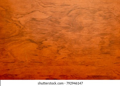 Wood Grain Stained Red Orange Mahogany Background Texture