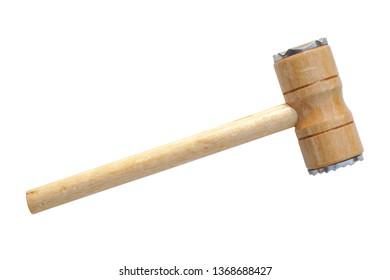wood hammer isolated on white background