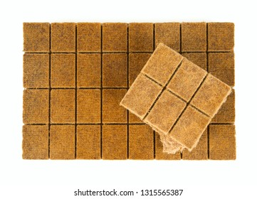 wood kindling briquettes isolated on white