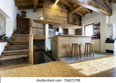 wood kitchen in modern style