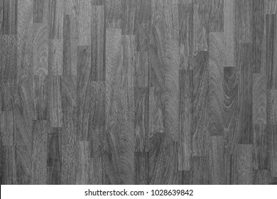 Wood laminate flooring texture background in house in black and white.
