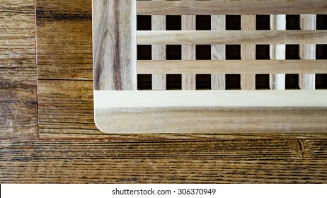 wood laths on wood floor