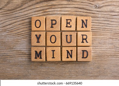 WOOD LETTERS OPEN YOUR MIND