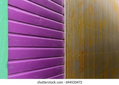 Wood and Metal Wall