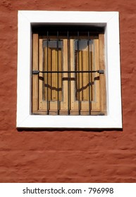 wood old window