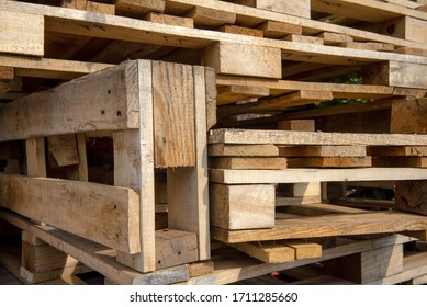 Wood pallets background and texture